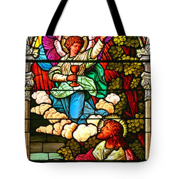 Tote Bag featuring the photograph Stained Glas Scene 7 by Adam Jewell