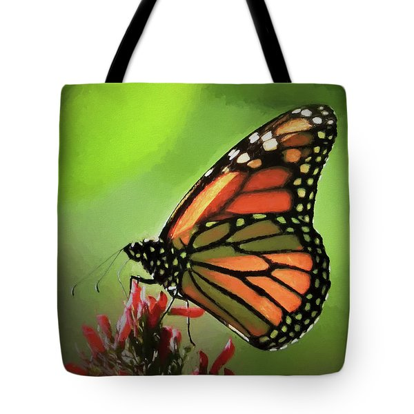 Tote Bag featuring the photograph Stained Glass Butterfly by Penny Lisowski