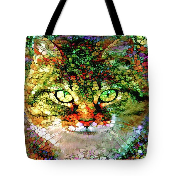 Stained Glass Cat Tote Bag