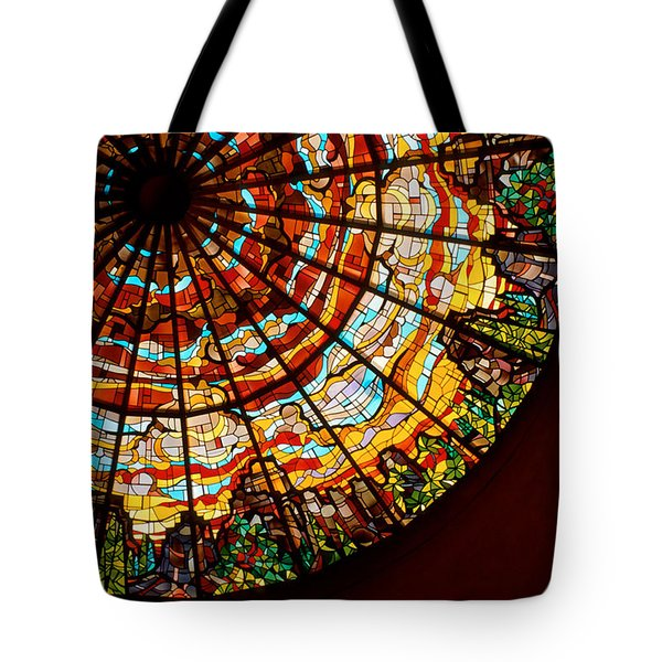 Stained Glass Ceiling Tote Bag by Jerry McElroy
