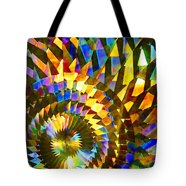 Tote Bag featuring the photograph Stained Glass Fantasy 1 by Francesa Miller