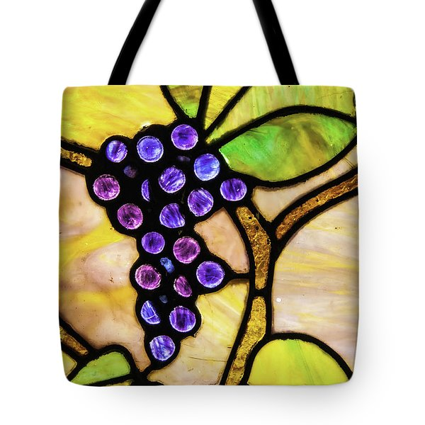 Stained Glass Grapes 01 Tote Bag