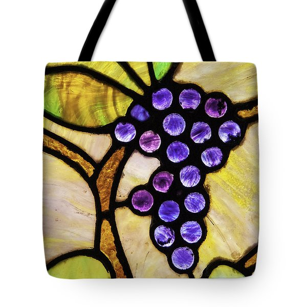 Stained Glass Grapes 02 Tote Bag