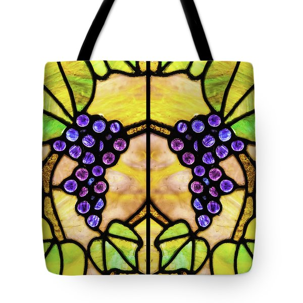 Stained Glass Grapes 03 Tote Bag