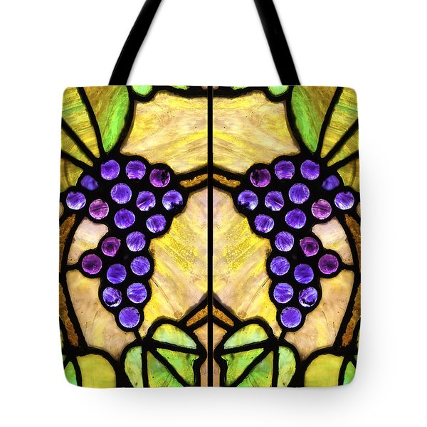 Stained Glass Grapes 07 Tote Bag
