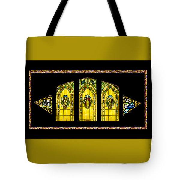 Tote Bag featuring the digital art Stained Glass by Jeff Phillippi