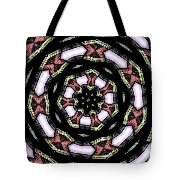 Tote Bag featuring the photograph Stained Glass Kaleidoscope 12 by Rose Santuci-Sofranko