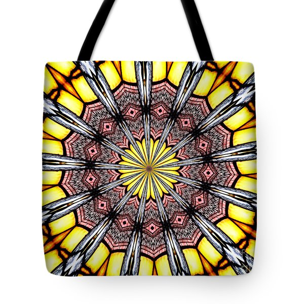 Tote Bag featuring the photograph Stained Glass Kaleidoscope 23 by Rose Santuci-Sofranko