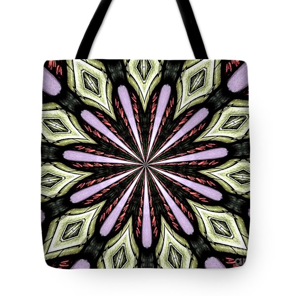 Tote Bag featuring the photograph Stained Glass Kaleidoscope 25 by Rose Santuci-Sofranko