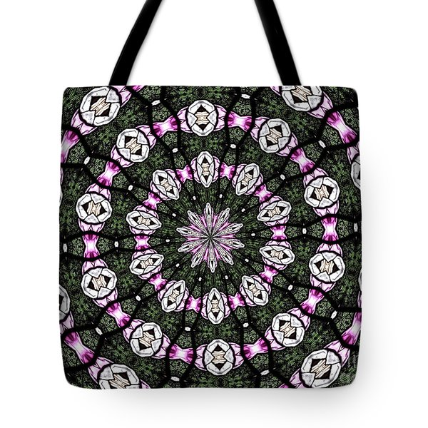 Tote Bag featuring the photograph Stained Glass Kaleidoscope 3 by Rose Santuci-Sofranko