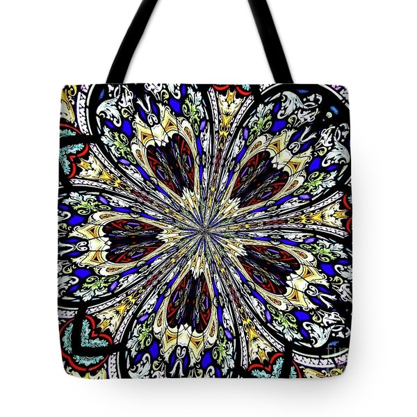 Stained Glass Kaleidoscope 38 Tote Bag by Rose Santuci-Sofranko