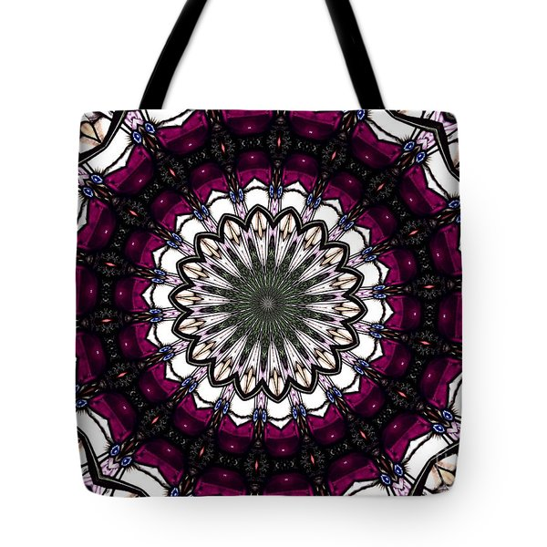 Tote Bag featuring the photograph Stained Glass Kaleidoscope 4 by Rose Santuci-Sofranko