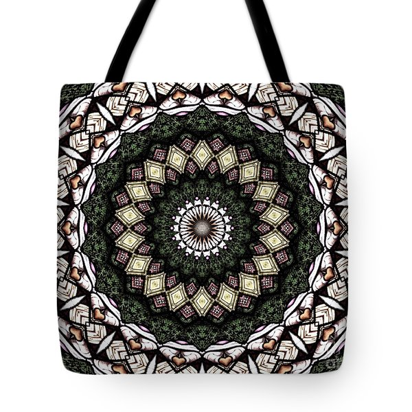 Tote Bag featuring the photograph Stained Glass Kaleidoscope 6 by Rose Santuci-Sofranko