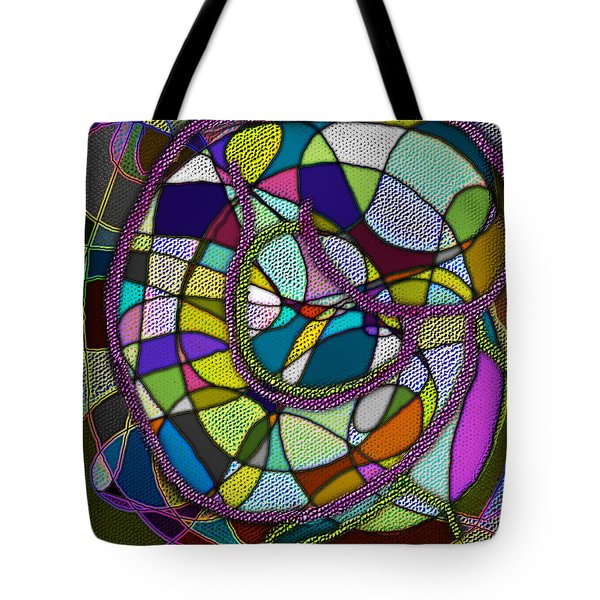Tote Bag featuring the digital art Stained Glass Mother And Child by Iowan Stone-Flowers