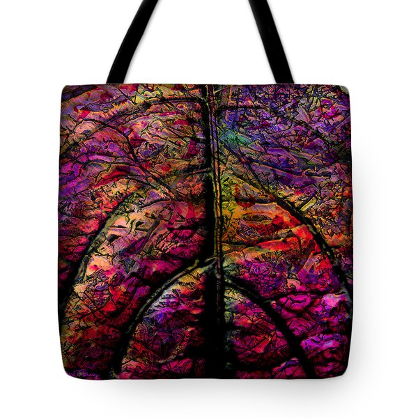 Stained Glass Not Tote Bag by Barbara Berney