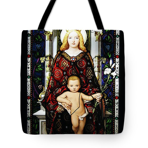 Stained Glass Of Virgin Mary Tote Bag by Adam Romanowicz