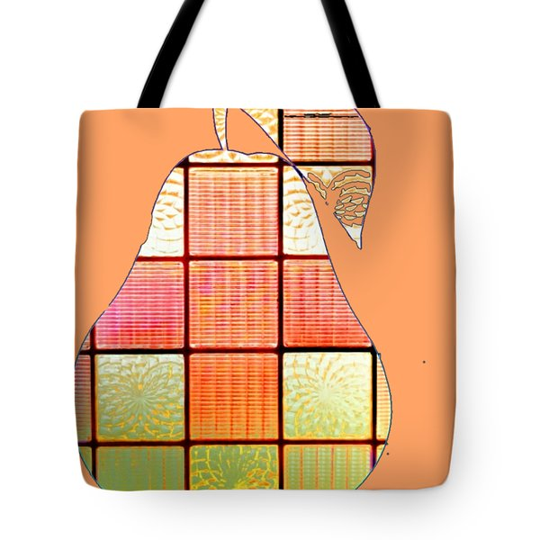 Stained Glass Pear Tote Bag
