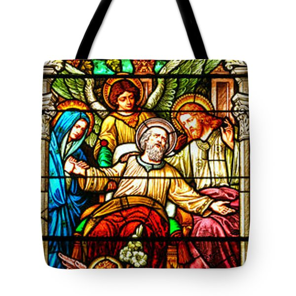 Tote Bag featuring the photograph Stained Glass Scene 1 - 3 by Adam Jewell
