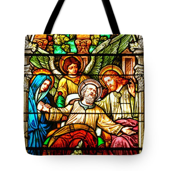 Tote Bag featuring the photograph Stained Glass Scene 1 - 4 by Adam Jewell