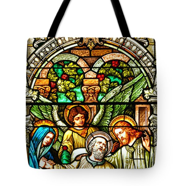 Tote Bag featuring the photograph Stained Glass Scene 1 Crop by Adam Jewell