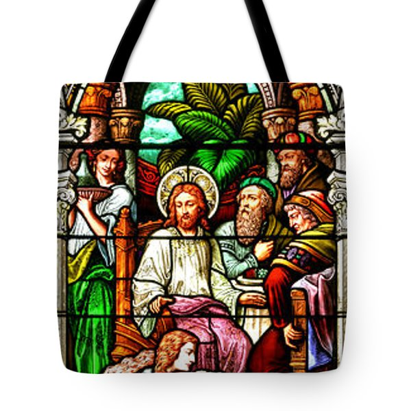 Tote Bag featuring the photograph Stained Glass Scene 11 by Adam Jewell