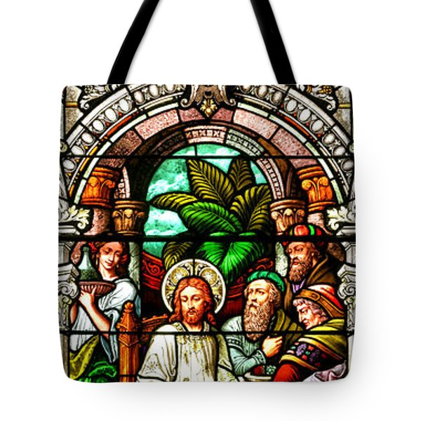 Tote Bag featuring the photograph Stained Glass Scene 11 Crop by Adam Jewell