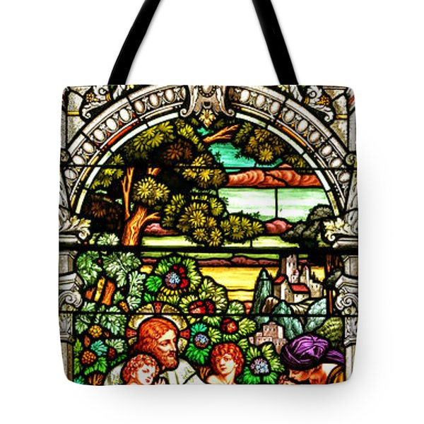 Tote Bag featuring the photograph Stained Glass Scene 12 by Adam Jewell
