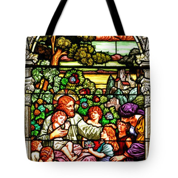 Tote Bag featuring the photograph Stained Glass Scene 12 Crop by Adam Jewell