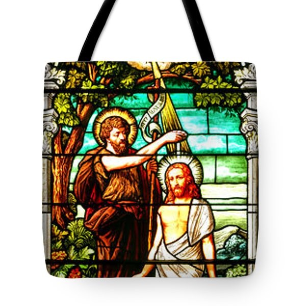 Tote Bag featuring the photograph Stained Glass Scene 2 by Adam Jewell