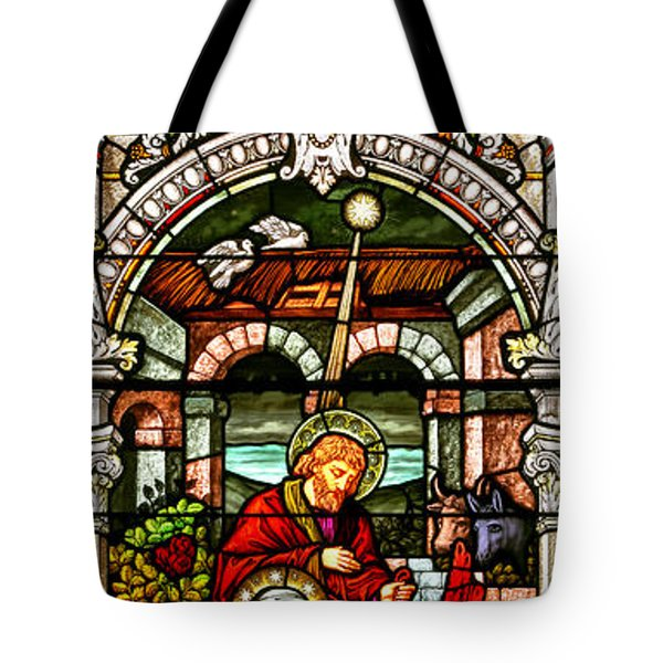Tote Bag featuring the photograph Stained Glass Scene 4 - 2 by Adam Jewell