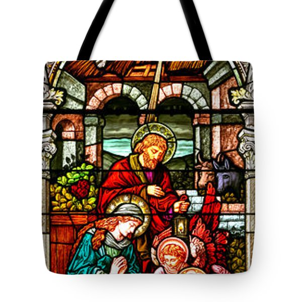 Tote Bag featuring the photograph Stained Glass Scene 4 by Adam Jewell