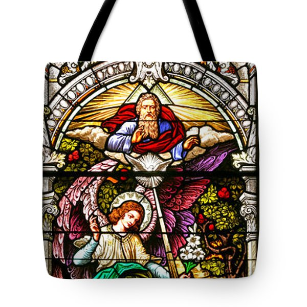 Tote Bag featuring the photograph Stained Glass Scene 5 by Adam Jewell