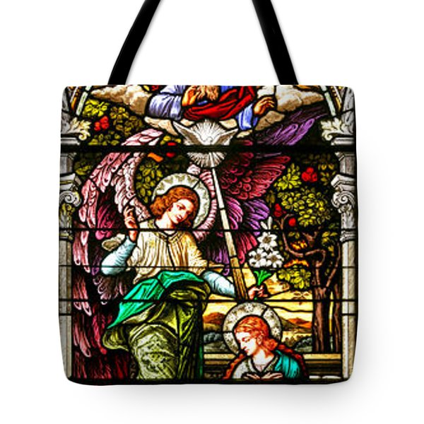 Tote Bag featuring the photograph Stained Glass Scene 5 Crop by Adam Jewell
