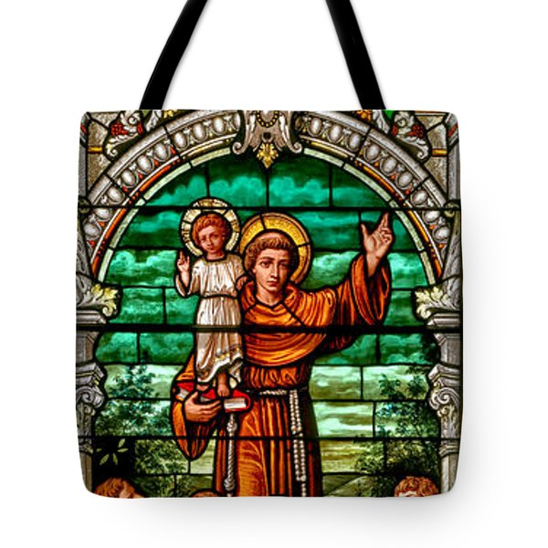 Tote Bag featuring the photograph Stained Glass Scene 6 Crop by Adam Jewell