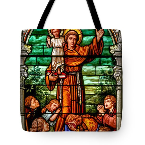 Tote Bag featuring the photograph Stained Glass Scene 6 Full Size by Adam Jewell
