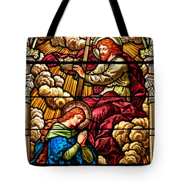 Tote Bag featuring the photograph Stained Glass Scene 8 by Adam Jewell