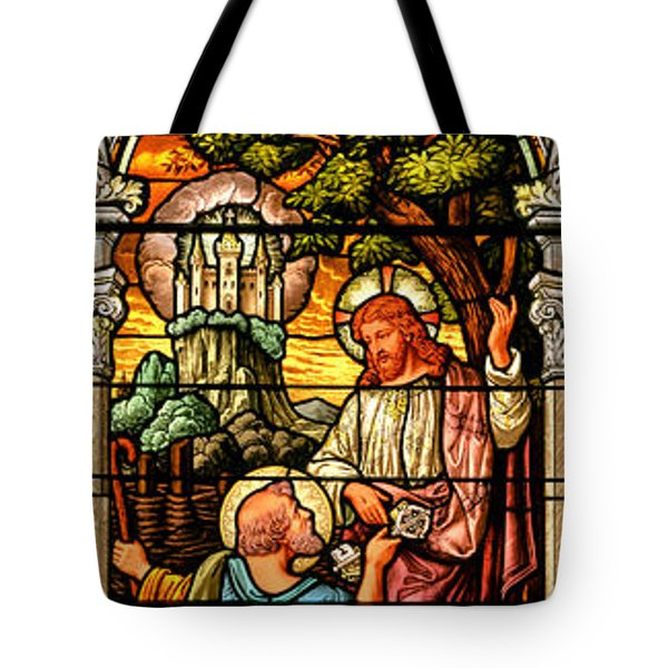 Tote Bag featuring the photograph Stained Glass Scene 9 by Adam Jewell