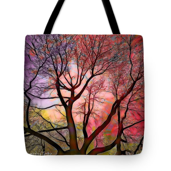 Stained Glass Sunrise 2 Tote Bag