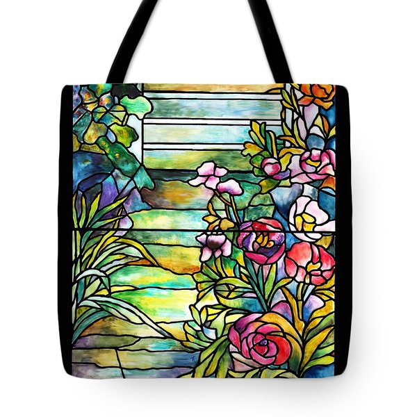 Stained Glass Tiffany Robert Mellon House Tote Bag by Donna Walsh