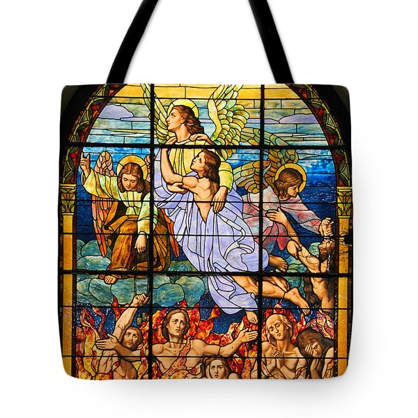 Tote Bag featuring the photograph Stained Glass Window by Elizabeth Budd