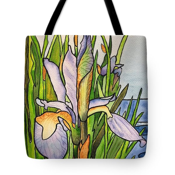 Stained Iris Tote Bag