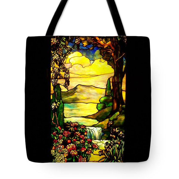 Stained Landscape Tote Bag by Donna Blackhall