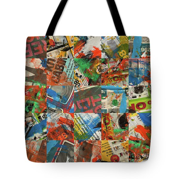 Stained Newspaper Pages Tote Bag