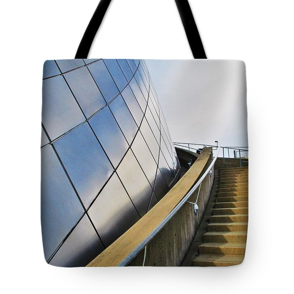 Staircase To Sky Tote Bag by Martin Cline