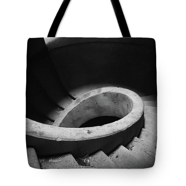 Stairs Abandoned Hotel Tote Bag