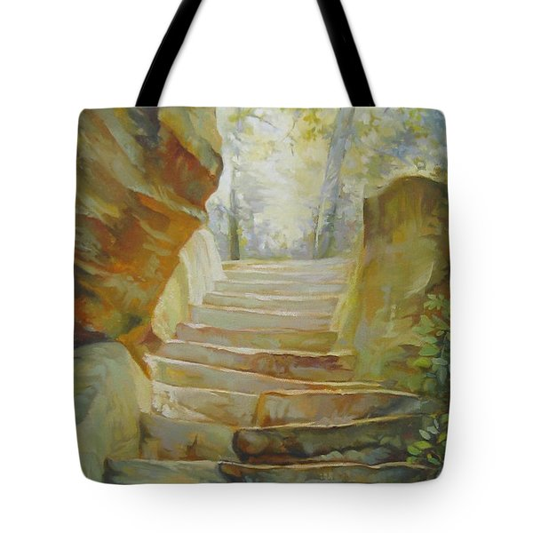 Stairs Tote Bag by Elena Oleniuc