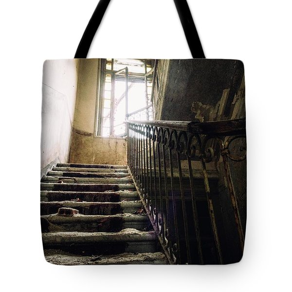 Stairs In Haunted House Tote Bag