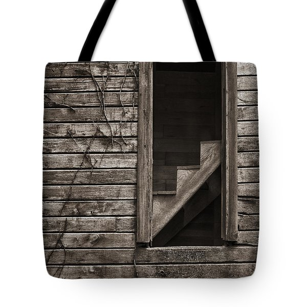 Stairs With A View Tote Bag