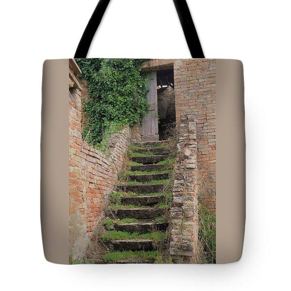 Stairway Less Traveled Tote Bag