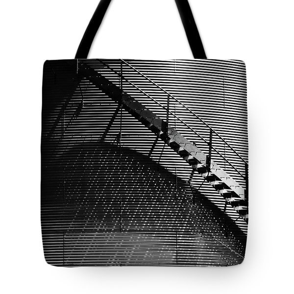 Tote Bag featuring the photograph Stairway Shadow by Christopher McKenzie